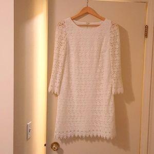 J. Crew White Lace Dress